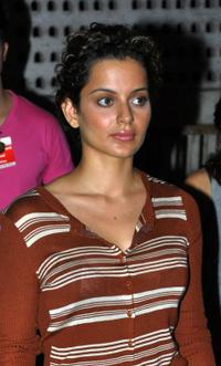 Kangana Ranaut at the blood donation drive in support of the