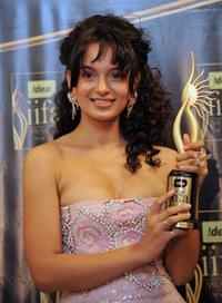 Kangana Ranaut at the 2009 International Indian Film Academy Awards ceremony.