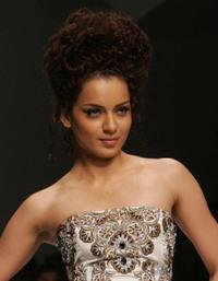 Kangana Ranaut at the Lakme Indian Fashion Week (LIFW) in Mumbai.