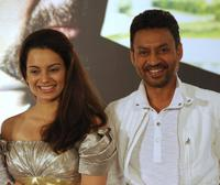 Kangana Ranaut and Irrfan Khan at the press conference of