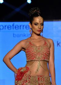 Kangana Ranaut at the Fashion show in Mumbai.
