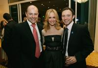 Rob Corddry, Sarah Pauslon and Nathan Corddry at the 9th Annual Dinner Benefiting the Lili Claire Foundation.