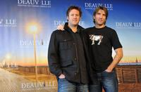 Neill Blomkamp and Sharlto Copley at the photocall of