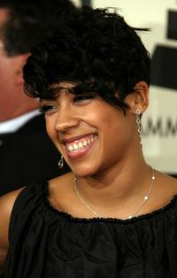Keyshia Cole at the 50th Annual Grammy Awards.