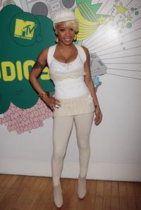 Keyshia Cole at the MTV's Total Request Live.