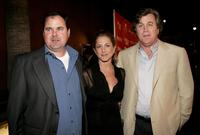 Bob Stephenson, Jennifer Aniston and Tom Bernard at the premiere of
