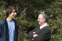 Demetri Martin and Producer James Schamus on the set of