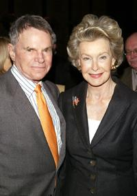 Dina Merrill and Ted Hartley at a breakfast panel for