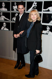Nicolas Maury and Bulle Ogier at the Chaumet's Cocktail party and dinner for Cesar's Revelations 2012 in Paris.