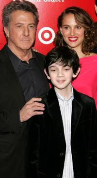 Dustin Hoffman, Zach Mills and Natalie Portman at the after party of the world premiere of