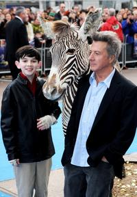Zach Mills and Dustin Hoffman at the UK premiere of