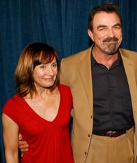Laurie Metcalf and Tom Selleck at the world premiere of