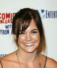 Jillian Murray at the Comics Unleashed party in California.