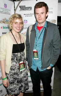 Greta Gerwig and Joe Swanberg at the Sarasota Film Festival.