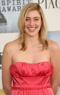 Greta Gerwig at the 24th Annual Film Independent's Spirit Awards.