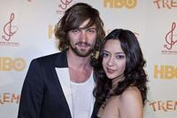 Michiel Huisman and Lucia Micarelli at the HBO's series