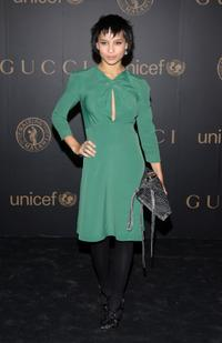 Zoe Kravitz at the reception to benefit UNICEF hosted by Gucci during the Mercedes-Benz Fashion Week Fall 2008.
