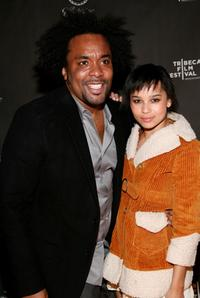 Producer Lee Daniels and Zoe Kravitz at the after party of