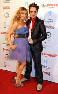 Bobbi Sue Luther and Thomas Dekker at the premiere of