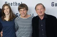 Miriam Stein, Volker Bruch and Burghart Klaussner at the photocall of