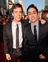 B.J. Novak and Omar Doom at the premiere of