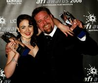 Emily Barclay and Shane Jacobson at the L'Oreal Paris 2006 AFI Awards.