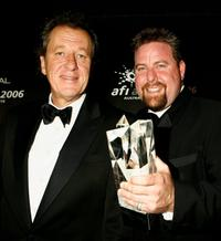Geoffrey Rush and Shane Jacobson at the L'Oreal Paris 2006 AFI Awards.