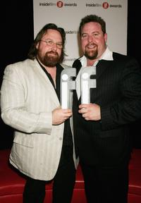 Clayton and Shane Jacobson at the 2006 Hisense Inside Film Awards.