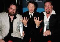 Clayton, Joel Edgerton and Shane Jacobson at the 2006 Hisense Inside Film Awards.