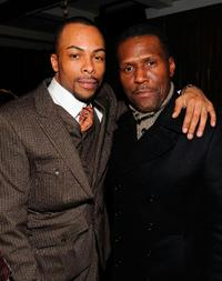 Jas Anderson and Curtis Cook at the after party of the premiere of