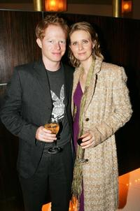 Jesse Tyler Ferguson and Cynthia Nixon at the after party of