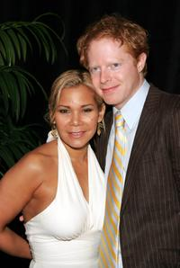 Daphne Ruben-Vega and Jesse Tyler Ferguson at the New Dramatists 56th Annual Benefit luncheon.