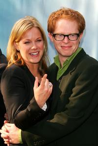 Andrea Anders and Jesse Tyler Ferguson at the CBS Upfront Presentation.