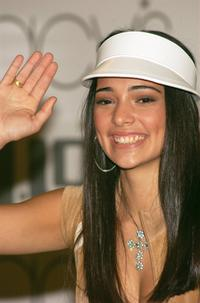 Natalie Martinez at the media conference in New York City.