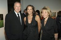 Robert Wilson, Donna Karan and Lisa Dennison at the Pre-Opening Benefit for the Watermill Center.