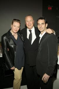 Katharina Otto Bernstein, Robert Wilson and Frank Michielli at the Pre-Opening Benefit for the Watermill Center.