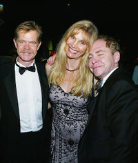 Willian H. Macy, Gretchen Becker and magician Teller at the after party for the 2004 Creative Arts Awards in California.