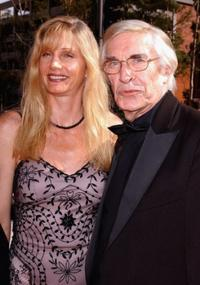 Martin Landau and Gretchen Becker at the 2004 Primetime Creative Arts Emmy Awards.