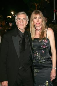 Martin Landau and Gretchen Becker at the Vanity Fair Oscar Party.