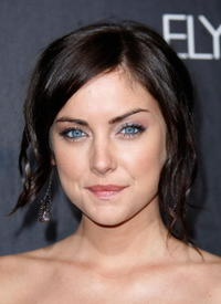Jessica Stroup at the grand opening of the D&G Flagship Boutique on Robertson Boulevard.