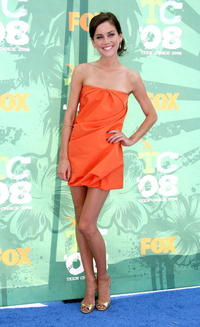 Jessica Stroup at the 2008 Teen Choice Awards.