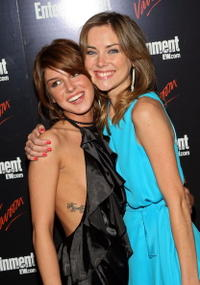 Jessica Stroup and Shenae Grimes at the Entertainment Weekly and Vavoom annual upfront party.