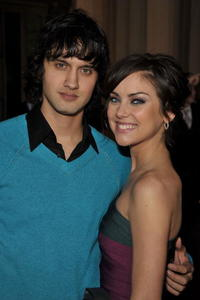 Michael Steger and Jessica Stroup at the 35th Annual People's Choice Awards.