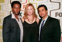 Edi Gathegi, Anne Dudek and Kal Penn at the FOX Fall Eco-Casino party.