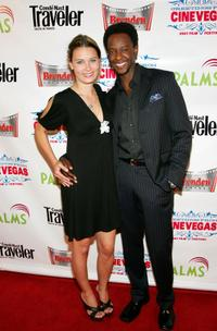 Kristina Klebe and Edi Gathegi at the world premiere of