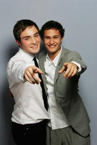 Ed Westwick and Rafi Gavron at the portrait session of