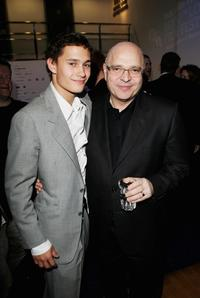 Rafi Gavron and Anthony Minghella at the UK premiere of