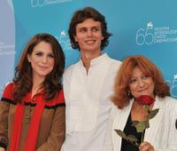 Isabella Ragonese, Andrea Miglio Risi and Laura Delli Colli at the