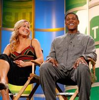Brittany Daniel and Pooch Hall at the 2006 Summer Television Critics Association press tour.