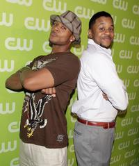 Pooch Hall and Hosea Chanchez at the CW Network's Affiliate Launch party.